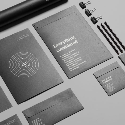 Branded corporate stationery items